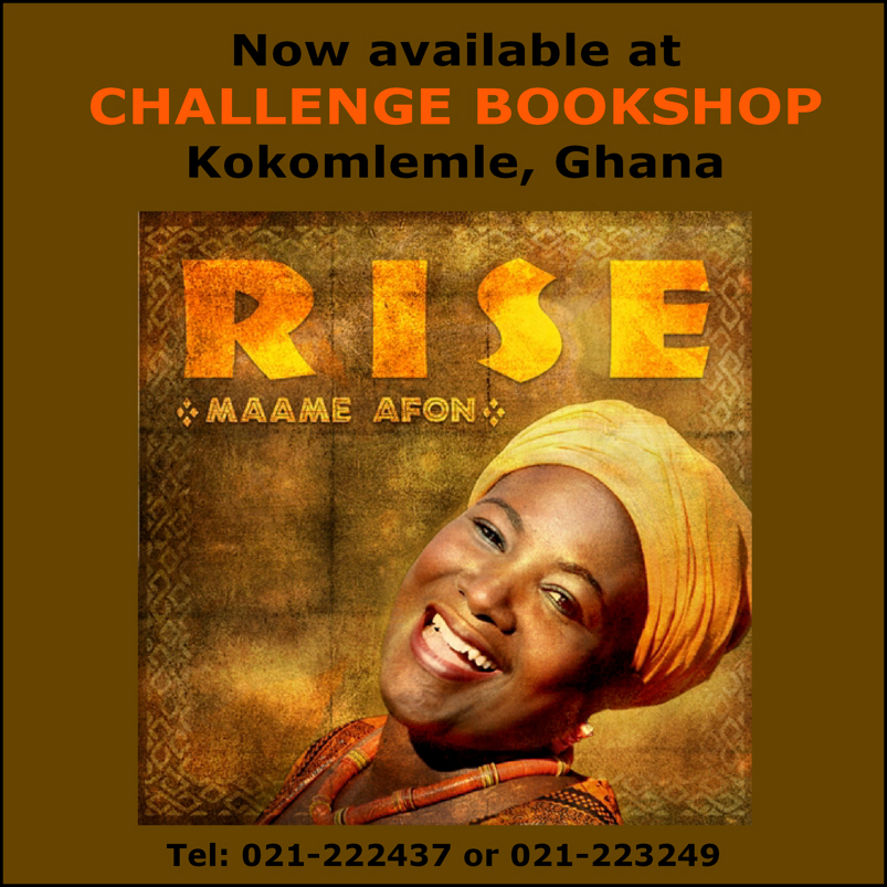 RISE now available at Challenge Bookshop in Accra